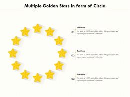 Multiple Golden Stars In Form Of Circle