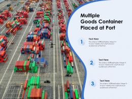 Multiple Goods Container Placed At Port