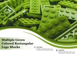 Multiple Green Colored Rectangular Lego Blocks