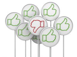 Multiple Green Likes With One Red Dislike Hoarding Stock Photo