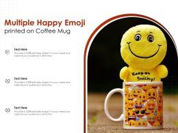 Multiple Happy Emoji Printed On Coffee Mug