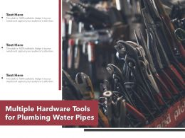 Multiple Hardware Tools For Plumbing Water Pipes