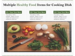 Multiple Healthy Food Items For Cooking Dish