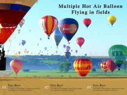 Multiple Hot Air Balloon Flying In Fields