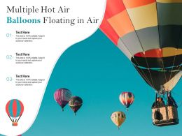 Multiple Hot Air Balloons Floating In Air