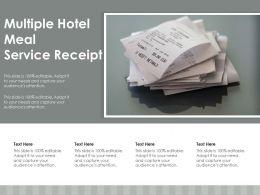 Multiple Hotel Meal Service Receipt