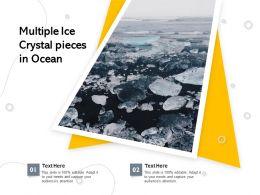 Multiple Ice Crystal Pieces In Ocean
