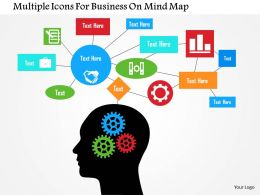 multiple_icons_for_business_on_mind_map_flat_powerpoint_design_Slide01