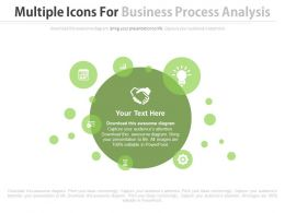 Multiple Icons For Business Process Analysis Flat Powerpoint Design
