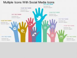 Multiple Icons With Social Media Icons Flat Powerpoint Design