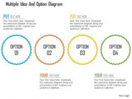 Multiple Idea And Option Diagram Flat Powerpoint Design