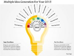 multiple_idea_generation_for_year_2015_flat_powerpoint_design_Slide01