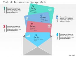 Multiple Information Storage Mails Flat Powerpoint Design