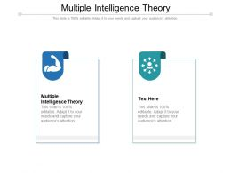Multiple Intelligence Theory Ppt Powerpoint Presentation Pictures Show Cpb