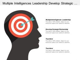 Multiple Intelligences Leadership Develop Strategic Partnership Sales Process Cpb