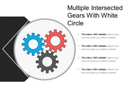 Multiple Intersected Gears With White Circle