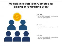 Multiple Investors Icon Gathered For Bidding At Fundraising Event