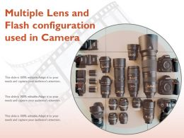 Multiple Lens And Flash Configuration Used In Camera