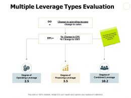Multiple Leverage Types Evaluation Ppt Powerpoint Presentation File Picture