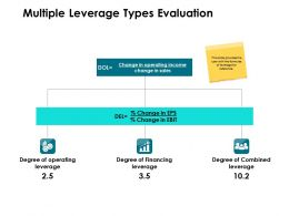 Multiple Leverage Types Evaluation Ppt Powerpoint Presentation Icon