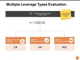 Multiple Leverage Types Evaluation Ppt Powerpoint Presentation