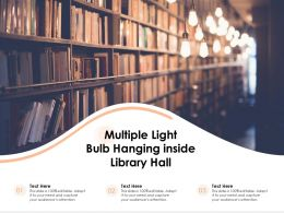 Multiple Light Bulb Hanging Inside Library Hall