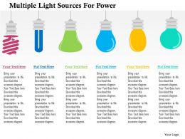 Multiple Light Sources For Power Flat Powerpoint Design