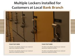 Multiple Lockers Installed For Customers At Local Bank Branch