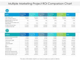 Multiple Marketing Project ROI Comparison Chart