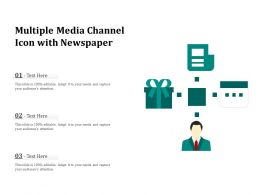 Multiple Media Channel Icon With Newspaper