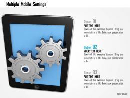 Multiple Mobile Settings Image Graphics For Powerpoint