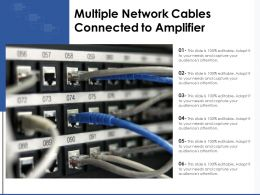 Multiple Network Cables Connected To Amplifier
