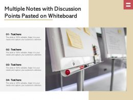 Multiple Notes With Discussion Points Pasted On Whiteboard