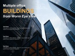 Multiple Office Buildings From Worm Eye View