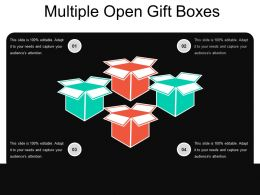 Multiple Open Gift Boxes