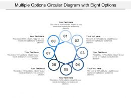 Multiple Options Circular Diagram With Eight Options