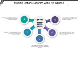 Multiple Options Diagram With Five Options