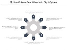 Multiple Options Gear Wheel With Eight Options