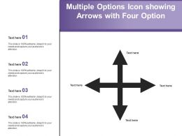 Multiple Options Icon Showing Arrows With Four Option