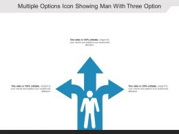 Multiple Options Icon Showing Man With Three Option