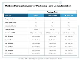Multiple Package Services For Marketing Tasks Computerization Prospect Tracking Ppt Powerpoint Backgrounds