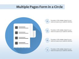 Multiple Pages Form In A Circle