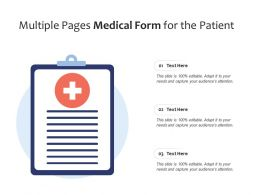 Multiple Pages Medical Form For The Patient