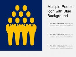 Multiple People Icon With Blue Background
