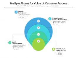Multiple Phases For Voice Of Customer Process
