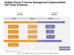 Multiple Phases IT Service Management Implementation Half Yearly Roadmap