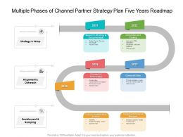 Multiple Phases Of Channel Partner Strategy Plan Five Years Roadmap