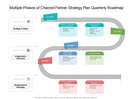 Multiple Phases Of Channel Partner Strategy Plan Quarterly Roadmap