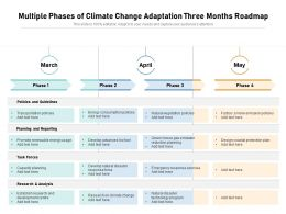 Multiple Phases Of Climate Change Adaptation Three Months Roadmap