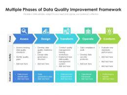Multiple Phases Of Data Quality Improvement Framework